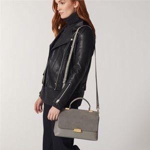 Love & Lore Grey Edie Flap Satchel Crossbody Bag